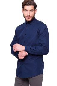 Ανδρικό πουκάμισο The Bostonians - AMP1010 - Μπλε Σκούρο