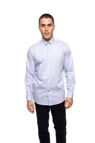 The Bostonians ανδρικό πουκάμισο μακρυμάνικο μονόχρωμο - AMP1233 - Γαλάζιο