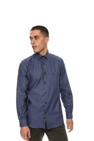 The Bostonians ανδρικό πουκάμισο σκούρο μακρυμάνικο - AMP1258 - Μπλε