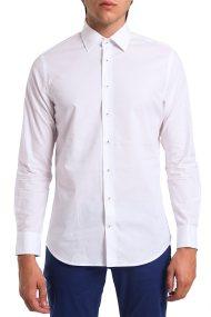 Ανδρικό μονόχρωμο πουκάμισο Arrow - 47-070041 - Λευκό