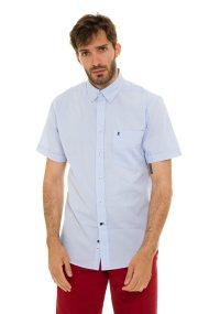 The Bostonians ανδρικό μονόχρωμο πουκάμισο με κοντά μανίκια - BAP0016 - Ανοιχτό Γαλάζιο