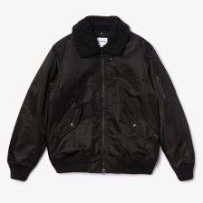 Lacoste ανδρικό μπουφάν με αποσπώμενη γούνα στο γιακά - BH8405 - Μαύρο