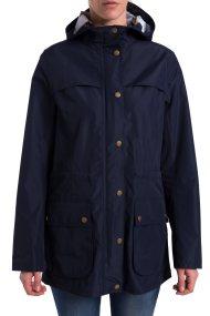 Γυναικείο αδιάβροχο μπουφάν Brimhham με κουκούλα Barbour - LWB0466 - Μπλε Σκούρο