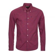 Barbour ανδρικό καρό πουκάμισο με τσεπάκι - MSH3334 - Μπορντό