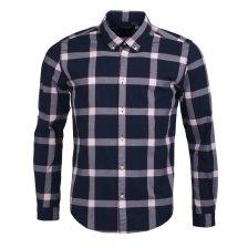 Barbour ανδρικό πουκάμισο καρό Valve Check Slim fit - MSH4434 - Μπλε Σκούρο