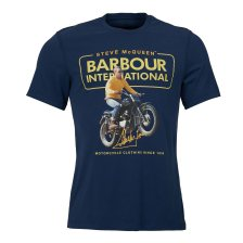 Barbour ανδρικό T-shirt International Steve McQueen Cooler - MTS0524 - Μπλε Σκούρο