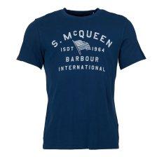 Barbour ανδρικό T-shirt International Steve McQueen Boon - MTS0525 - Μπλε Σκούρο