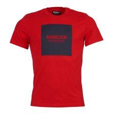 Barbour ανδρικό T-shirt International block print - MTS0540 - Κόκκινο