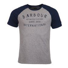 Barbour ανδρικό T-shirt με ρεγκλάν μανίκια International Etch - MTS0541 - Γκρι