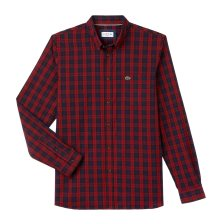 Lacoste ανδρικό καρό πουκάμισο - CH0461 - Κόκκινο
