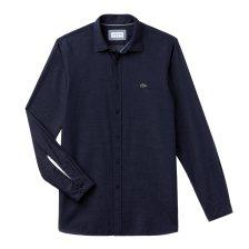 Lacoste ανδρικό πουκάμισο Polka dot jacquard - CH0482 - Μπλε Σκούρο