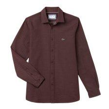 Lacoste ανδρικό πουκάμισο Polka dot jacquard - CH0482 - Μπορντό 7e8f4b5357d