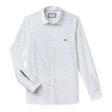 666ec7425b3e Lacoste ανδρικό πουκάμισο με μικροσχέδιο και λεπτομέρεια στο μανίκι The 4  Essential Shirts of the Season