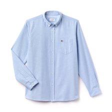 Ανδρικό πουκάμισο μονόχρωμο Spring Bloom Lacoste - CH4976 - Ανοιχτό Γαλάζιο