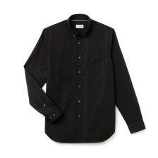 Ανδρικό πουκάμισο μονόχρωμο mini pique Lacoste - CH9623 - Μαύρο