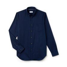 Ανδρικό πουκάμισο μονόχρωμο mini pique Lacoste - CH9623 - Μπλε Σκούρο