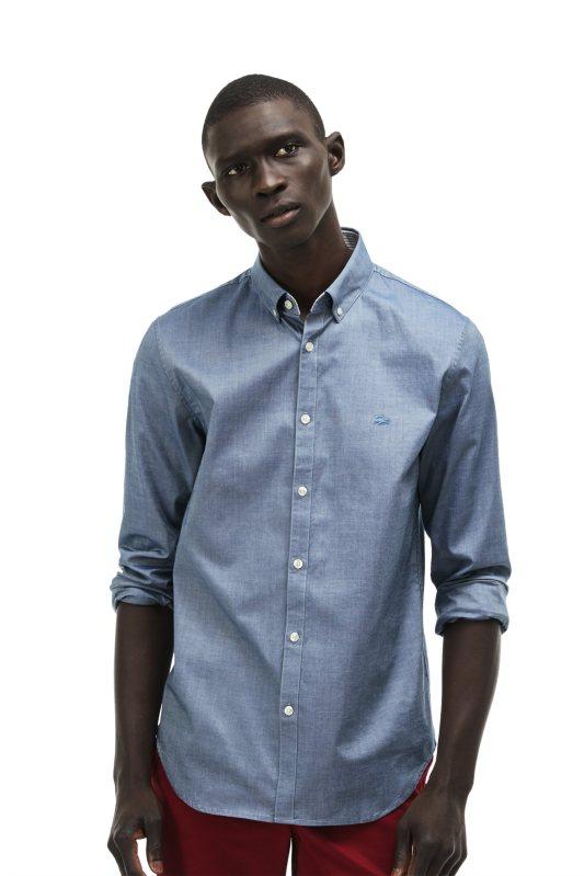 6a2cfc85652a Ανδρικό πουκάμισο Lacoste - CH9627 - Γαλάζιο - Ανδρικά πουκάμισα