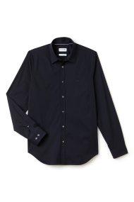 Ανδρικό μακρυμάνικο πουκάμισο slim fit poplin Lacoste - CH9628 - Μπλε Σκούρο