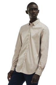 Ανδρικό μακρυμάνικο πουκάμισο slim fit poplin Lacoste - CH9628 - Μπεζ