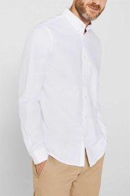 Esprit ανδρικό πουκάμισο με button-down γιακά Oxrford - 010EE2F302 - Λευκό