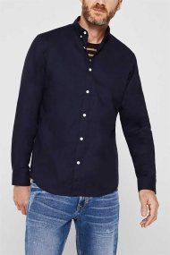 Esprit ανδρικό πουκάμισο με button-down γιακά Oxrford - 010EE2F302 - Μπλε Σκούρο