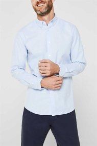 Esprit ανδρικό πουκάμισο με button-down γιακά Oxrford - 010EE2F302 - Γαλάζιο
