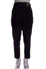 Γυναικείο cropped ψηλόμεσο παντελόνι Esprit - 018EO1B011 - Μαύρο