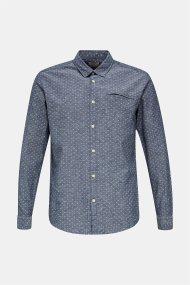 Esprit ανδρικό πουκάμισο με μικροσχέδιο - 020EE2F302 - Μπλε Σκούρο