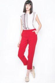 Γυναικείο παντελόνι, Esprit - 027EO1B014 - Κόκκινο