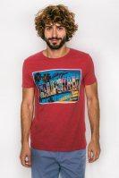 Ανδρικό T-shirt, Esprit - 057EE2K013 - Κόκκινο image