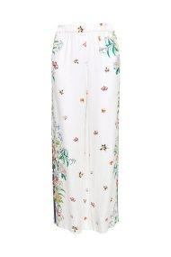 Esprit γυναικείο crêpe παντελόνι εμπριμέ - 068EO1B007 - Λευκό