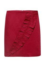 Esprit γυναικεία mini φούστα με απλικέ γκοφρέ λεπτομέρεια - 088EE1D012 - Μπορντό