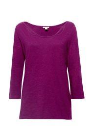 Εsprit γυαναικεία μονόχρωμη μπλούζα με cut-outs - 088EE1K029 - Μοβ