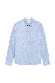 Esprit ανδρικό πουκάμισο print πουλιά - 088EE2F001 - Γαλάζιο