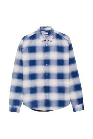 Esprit ανδρικό βαμβακερό καρό πουκάμισο - 088EE2F010 - Μπλε