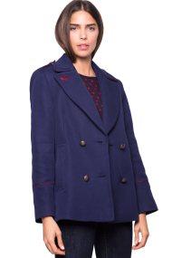 Γυναικείο σακάκι Esprit - 097EE1G036 - Μπλε Σκούρο