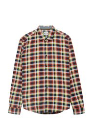 Esprit ανδρικό καρό πουκάμισο slim fit - 098EE2F002 - Κόκκινο