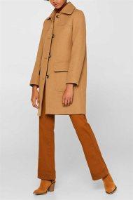 Esprit γυναικείο μονόχρωμο παλτό με κουμπιά - 099EE1G039 - Καμηλό