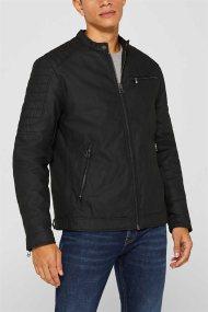 Esprit ανδρικό biker jacket μονόχρωμο - 099EE2G009 - Μαύρο