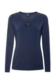 Esprit γυναικεία μπλούζα με μεταλλικό κρίκο - 108EO1K003 - Μπλε Σκούρο