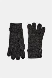 Esprit ανδρικά πλεκτά γάντια Touchscreen-friendly - 109EA2R005 - Ανθρακί