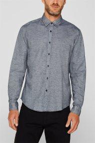 Εsprit ανδρικό πουκάμισο Slim fit melange - 109EE2F002 - Μπλε Σκούρο