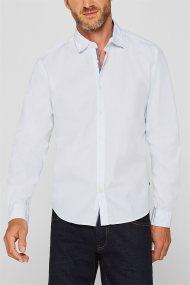 Esprit ανδρικό πουκάμισο με μικροσχέδιο Slim fit - 109EE2F003 - Λευκό