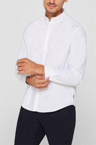 Esprit ανδρικό πουκάμισο button down regular fit - 109EE2F004 - Λευκό