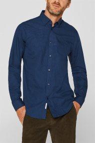 Εsprit ανδρικό πουκάμισο με μικροσχέδιο slim fit - 109EE2F008 - Μπλε Σκούρο