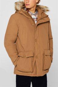 Εsprit ανδρικό παρκά με κουκούλα και faux γούνα 3M® - 109EE2G012 - Καμηλό