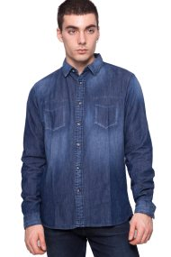 Ανδρικό πουκάμισο Esprit - 117EE2F021 - Μπλε