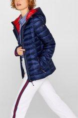c25a32e06312 Esprit γυναικείo ελαφρύ καπιτονέ μπουφάν με κουκούλα - 128EE1G009 - Μπλε  Σκούρο