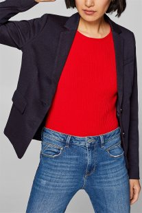 dfdf55472fc5 Esprit γυναικείο σακάκι με μικροσχέδιο πουά - 128EE1G014 - Μπλε Σκούρο