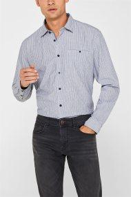 Esprit ανδρικό ριγέ πουκάμισο - 128EE2F005 - Μπλε